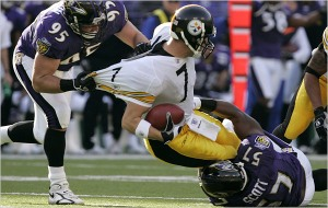 This Ravens team is hungry. I wonder how Big Ben's uniform tastes.