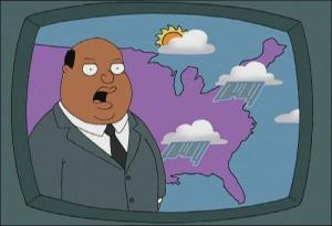The best black weatherman in Quahog.